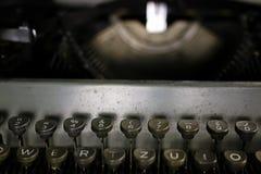 Retro maszyna do pisania list Zdjęcia Stock