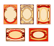 Retro matches labels Stock Images