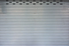 Retro matel garage door pattern Stock Photography