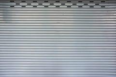 Retro matel garage door pattern Stock Photography