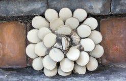 Retro mattonelle del fiore bianco Fotografia Stock Libera da Diritti