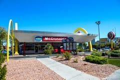 Retro McDonald's Restaurant, Las Vegas, NV. Royalty Free Stock Photos