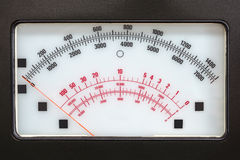 Retro measurement system with analog scale Stock Image