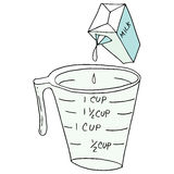 Retro measuring cup Royalty Free Stock Photos