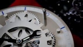Retro Mechanic Clock Gears stock video