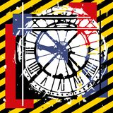Retro mechanical clock Royalty Free Stock Images
