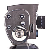Retro mechanical hobbies movie camera isolated Royalty Free Stock Photos