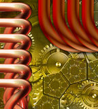 Retro mechanism. Abstract steampunk retro mechanism background royalty free illustration