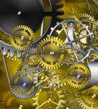 Retro mechanism. Abstract retro mechanism of gears stock illustration