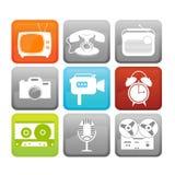 Retro media icons Royalty Free Stock Image
