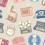Retro media pattern Royalty Free Stock Images