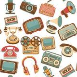 Retro media seamless pattern Royalty Free Stock Photography