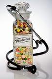 retro medicin Arkivfoto