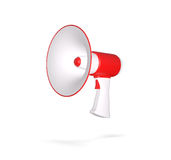 Retro megaphone isolated on white. 3d render Royalty Free Stock Photo
