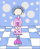 Retro meisje Royalty-vrije Illustratie