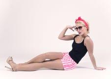 Retro meisje stock afbeelding