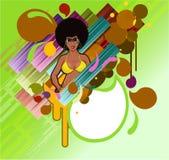 Retro meisje van Afro Royalty-vrije Stock Foto