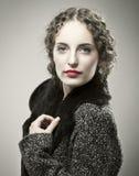Retro meisjesportret Royalty-vrije Stock Afbeelding