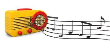 Retro- Melodien Stockbild