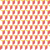 Retro memphis geometric cube shapes seamless abstract patterns. Hipster fashion 80-90s. Jumble textures. Optical Stock Image
