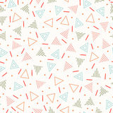 Retro memphis geometric line shapes seamless patterns. Hipster fashion 80-90s. Abstract jumble textures. Black and white. Triangle. Memphis style for printing stock illustration