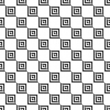 Retro memphis geometric square shapes seamless abstract patterns. Hipster fashion 80-90s. Jumble textures. Optical Stock Photo