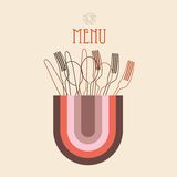 Retro menu Stock Photography