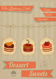 Retro Menu for the Cafe, Pastry Shop Royalty Free Stock Images
