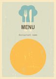 Retro menu cover Royalty Free Stock Photo