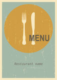Retro menu cover Royalty Free Stock Photos