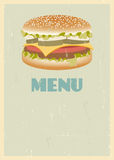 Retro menu cover Royalty Free Stock Images