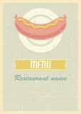 Retro menu cover Royalty Free Stock Image