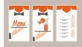 Retro menu dell'annata Fotografia Stock