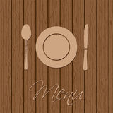 Retro menu design with utensil Stock Photo
