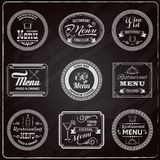 Retro Menu Labels Chalkboard Royalty Free Stock Image