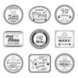 Retro Menu Labels Royalty Free Stock Photos