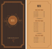 Retro menu Royalty Free Stock Photography
