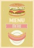 Retro menu set Royalty Free Stock Image
