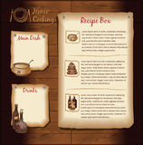Retro Menu Template Royalty Free Stock Photography