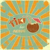 Retro Menu van de Staaf van Tiki van het Ontwerp Stock Foto's