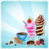 Retro menu van Smoothie en van de koffie Royalty-vrije Stock Foto's