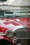 Retro Mercedes rossa Fotografia Stock Libera da Diritti