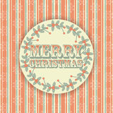 Retro merry christmas background. Retro Christmas background with Merry Christmas message Stock Photography