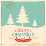 Retro Merry Christmas Background Stock Photo