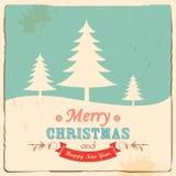 Retro Merry Christmas Background Stock Photo