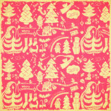 Retro Merry Christmas Background Royalty Free Stock Images