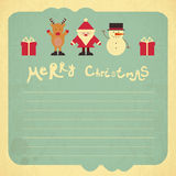 Retro Merry Christmas Card Royalty Free Stock Photos