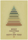 Retro Merry Christmas with Christmas Tree on a Vin Royalty Free Stock Photography