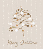 Retro Merry Christmas Postcard Stock Photo