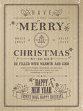 Retro Merry Christmas poster Royalty Free Stock Photo